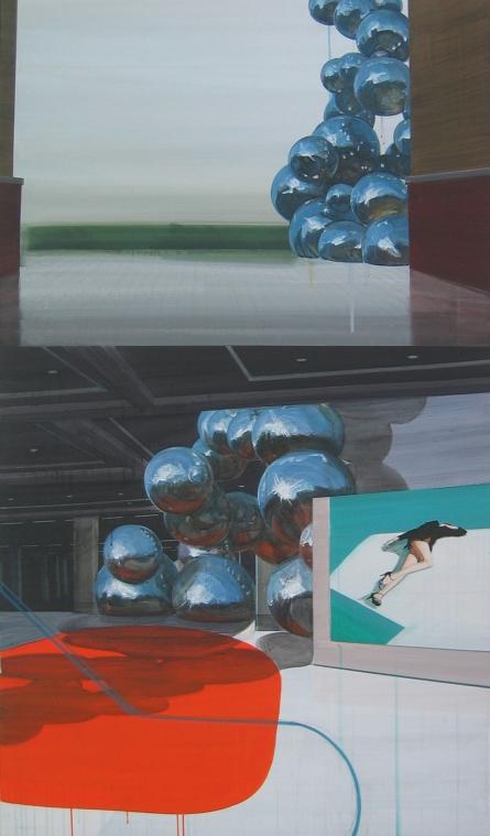 after the Rain, 193.7x112.1cm, acrylic on canvas, 2012