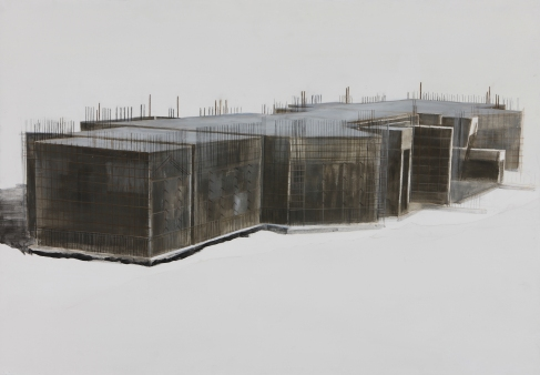 Drawing, ContePigment on paper, 70.5×100cm 2011
