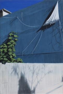 파란 벽(Blue Wall), 60.4x41cm, Acrylic on linen, 2014