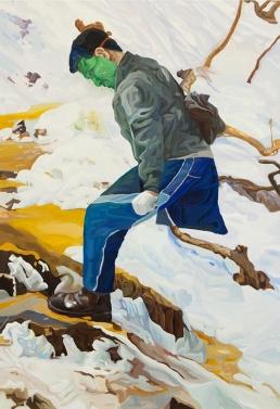 등산하는 헐크, oil on canvas, 116.8x80