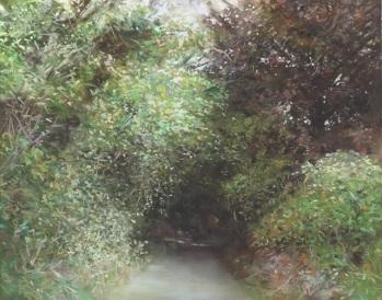 숲길을 걷다_Into woodland, 종이에 파스텔_pastel on paper, 48x38cm, 2014