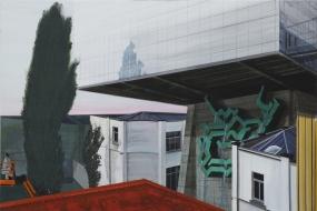 이재명, untitled(녹색 분수), 130.2x193.7cm, acrylic on canvas, 2012