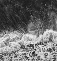하얀 환상, charcoal on paper, 29.3x27.2cm, 2015