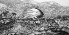 순진무구한 단어들, charcoal on paper, 20.5x39cm, 2015