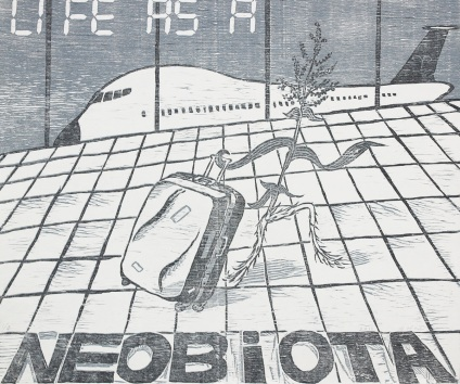 Life as a Neobiota(외래종으로서의 인생)_woodcut_60x70cm_2011