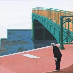 telepathie, 100 x 100 cm, acrylic on canvas, 2012